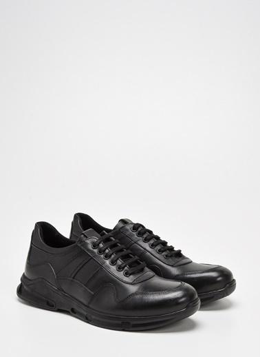 D by Divarese Deri Ayakkabı Siyah